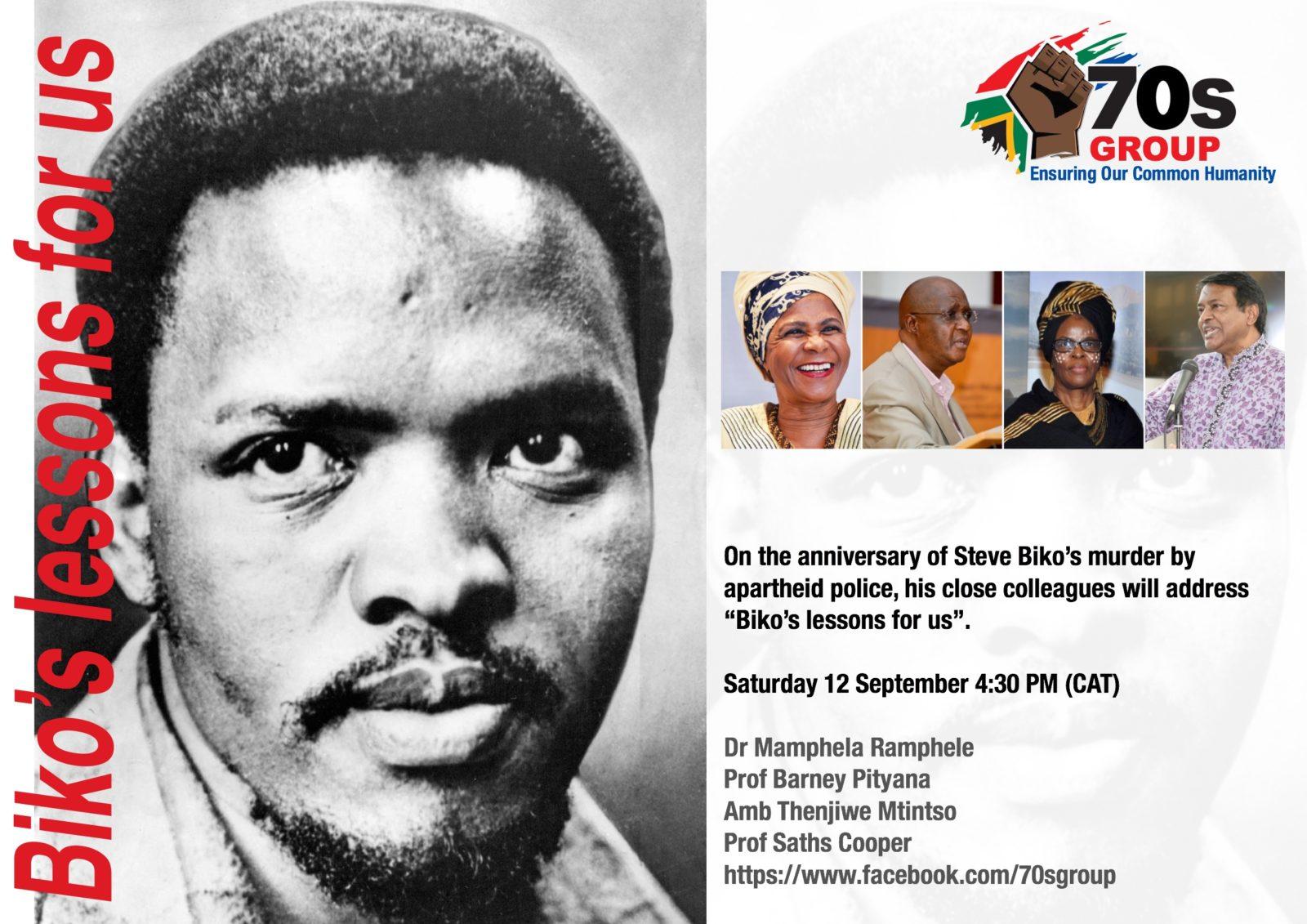 Anniversary of Biko's Murder